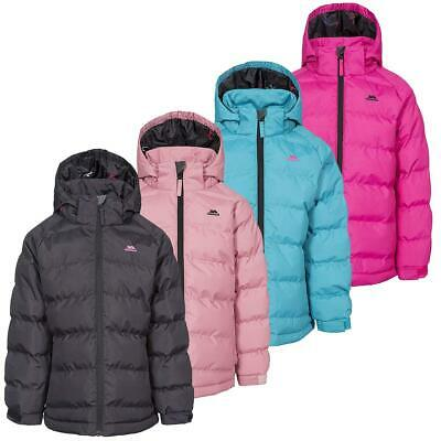 Girls Trespass Amira Winter Warm Quilted Waterproof Jacket Childrens Padded Coat