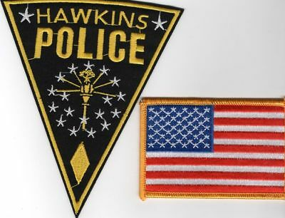 Lot ecussons cosplay Stranger things Chef de police d'Hawkins police patch lot
