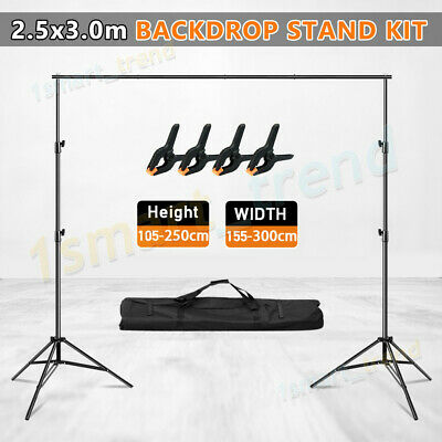 Photo Studio 2x3m Heavy-Duty Backdrop Background Support Screen Stand KIT+BAG