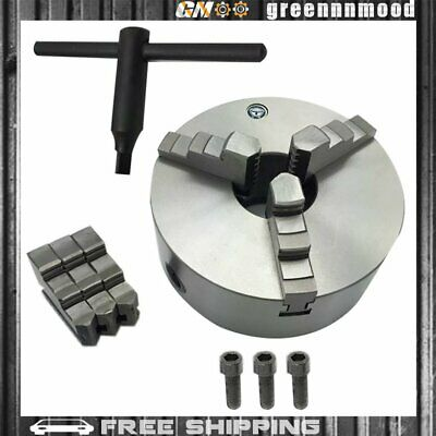 "3"" K11-80 3 Jaw Lathe Chuck Manual Chuck Self-centering Lathe Drilling Part 80mm"