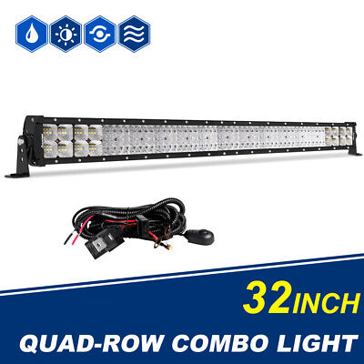 32Inch LED Work Light Bar Spot Flood Combo CREE Driving Offroad 4X4WD Boat Truck