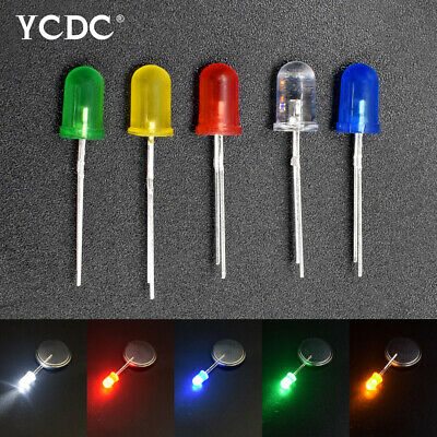 3mm 5mm led diode lights assored kit round head lamp beads for diy projects 120°