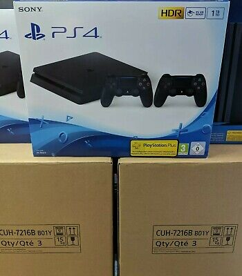 """Console Sony Ps4 1000Gb 1Tb Slim Chassis """"F"""" + Secondo Pad Ds4 V2"""
