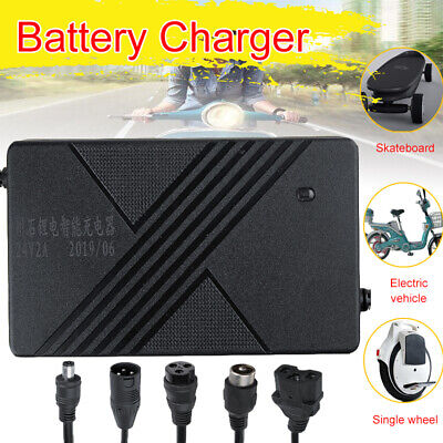 24V 2amp Li-ion Lithium Battery Charger for Electric Scooter Bicycle  E-Bike