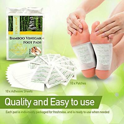 2 Pack of 10 each Bamboo Vinegar Foot PADS All Natural Premium Detox 20 pads 2pk