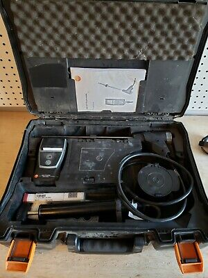 Used ABS Hard carrying Case, Probe & Printer for  Testo 320 Combustion Analyzer