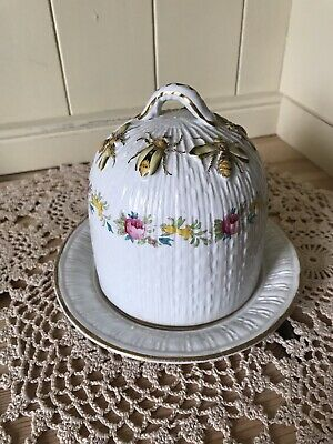 Antique Collectable Honey Pot White With Bees