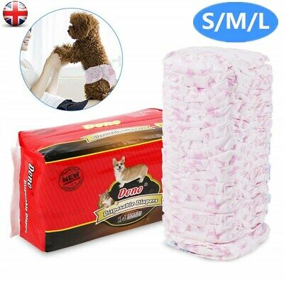 Pet Dog Puppy Disposable Diaper Diapers Pants Nappy Menstrual Sanitary S/M/L UK