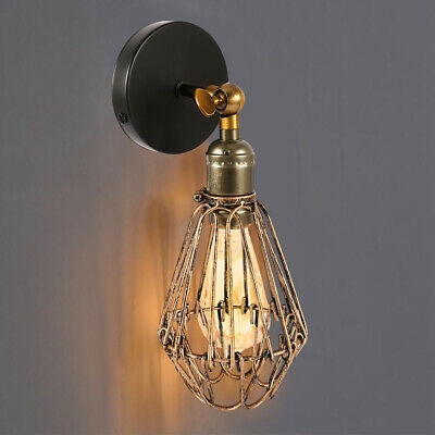 E27 Retro Industrial Loft Rustic Wall Sconce Wall Light Lamp Fixture Fitting AUS
