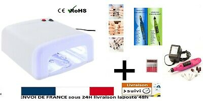 KIT Lampe UV Ongles Lampe UV 36W Lampe UV ManucurE + PONCEUSE MANUCURE +EMBOUTS