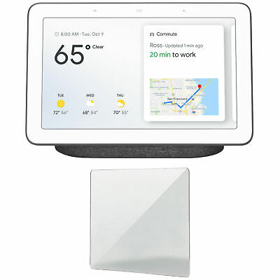 Google Home Hub with Google Assistant (GA00515-US) + Screen Protector (Charcoal)