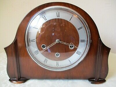 Vintage Smiths Westminster Chiming Mantle Clock ( Working )