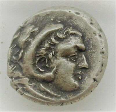 Rare Ancient Greek Silver Drachm Coin Alexander The Great 5.04Grams
