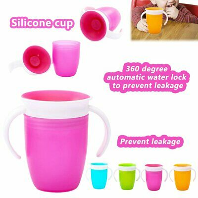Non Spill Chew Proof Miracle Toddler Baby Training Sippy 360 Trainer Cup IW