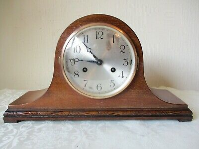 Vintage Napoleon Hat Striking Mantle Clock ( Working With On Off Switch)