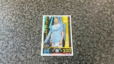 Match Attax 2018/19 No-451 Kevin De Bruyne Hundred 100 Club Mint