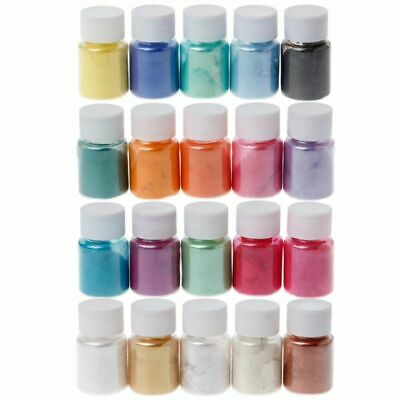 Natural Mica Powder Epoxy Resin Dye Pearl Pigment Mica Mineral Powder 20 Colors