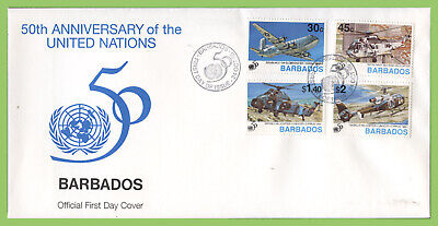 Barbados 1995 50th Anniversary of United Nations, Aircrafts set First Day Cover