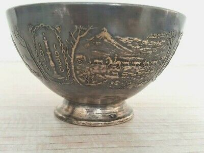 Voortrekker Monument Commemorative Metal Bowl South Africa 1938 Silver Plate