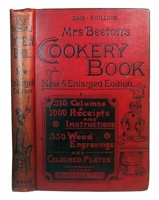 ANTIQUE COOKBOOK Mrs. Beeton's 1891 VICTORIAN VINTAGE Pastry Confectionery RARE