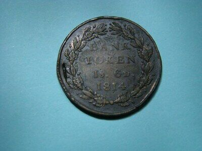 1814 George III 1s 6d Bank Token Contemporary Forgery