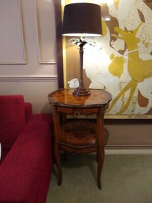 PAIR - Antique Mahogany Regency Drawing Room Tables (Brass and intricate inlay)
