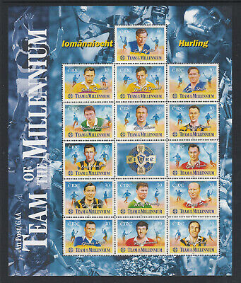 Ireland 2000 Hurling Team Of The Millennium Sheet Mnh
