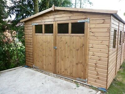 22 x 12 Heavy Duty Coningsby t&g Wooden Garage Timber Workshop Garden Shed