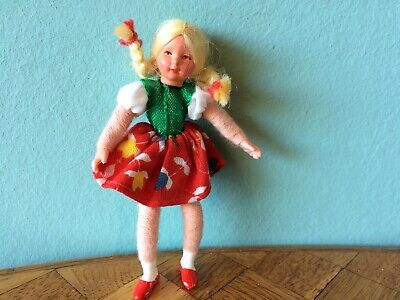 Mädchen (Nr.3) Caco Puppe Puppenhaus Puppenstube 1:12 dollhouse flexible doll