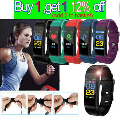 Fitness Smart Watch Activity Tracker Fitbit Android iOS Heart Rate Kid Women Men