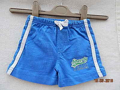 Mothercare Lovely Baby Boys Blue Cotton Sporty Shorts Size 0-3 Months