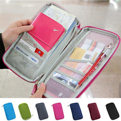 Family Passport Holder Travel Wallet Card Ticket Trip Document Organizer Case