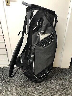 Callaway Hyper Lite 3 Stand Bag Black Grey White Carry Bag