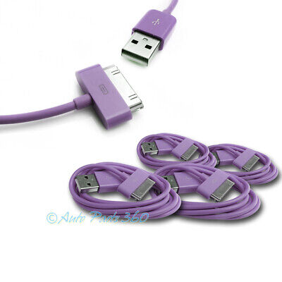 4X 6Ft Usb 30Pin Purple Cable Data Sync Charger Samsung Galaxy Tab 7.0 8.9 10.1