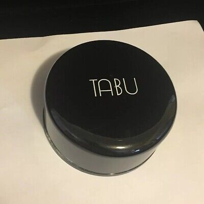 Dana Tabu 4oz Dusting Powder with Puff in plastic container ~ 95% Full.