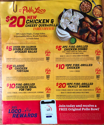 graphic relating to El Pollo Loco Coupons Printable referred to as EL POLLO LOCO Coupon Flyer Sheets - Expire August 28, 2019 8/28/19