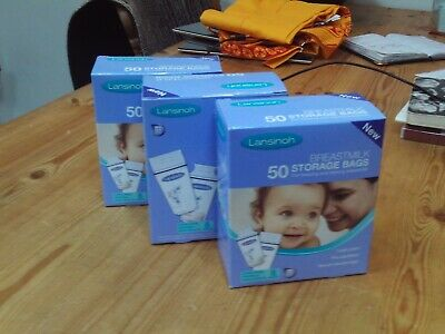 Lansinoh breastmilk storage bags - 3 boxes of 50