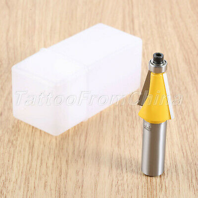 """15 Degree Woodworking Tools Router Bit 1/2"""" Shank Solid Surface Planer Cutter"""