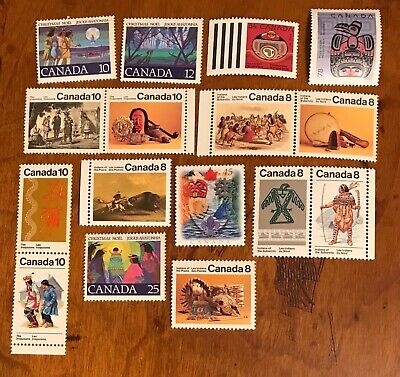 Canada postage stamps lot of 16 MNH Indigenous First Nations          Fe