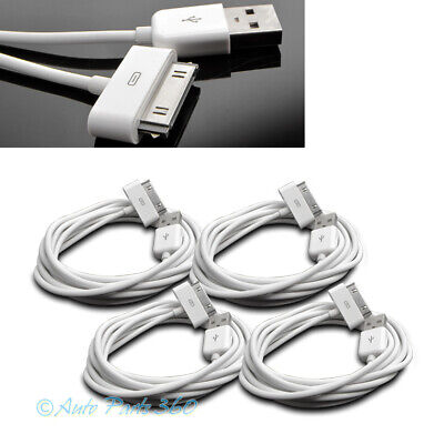4X 6Ft Usb 30Pin White Cable Data Sync Charger Samsung Galaxy Tab 7.0 8.9 10.1