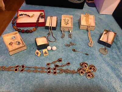 Junk Drawer Lot- Misc. Women's vintage necklaces and jewelry