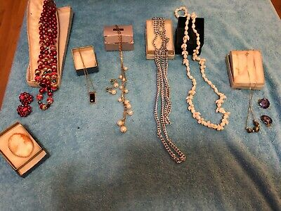 Junk Drawer Lot- Vintage Antique Misc. Women's necklaces and jewelry