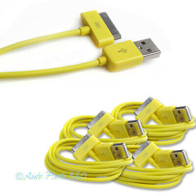 4X 6Ft Usb 30Pin Yellow Cable Data Sync Charger Samsung Galaxy Tab 7.0 8.9 10.1