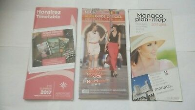 3 x Guides for Nice Cote D'Azur Airport, Nice and Monaco - 2017