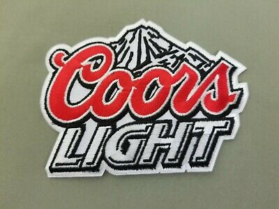 Coors Light Beer embroidered iron on patch.