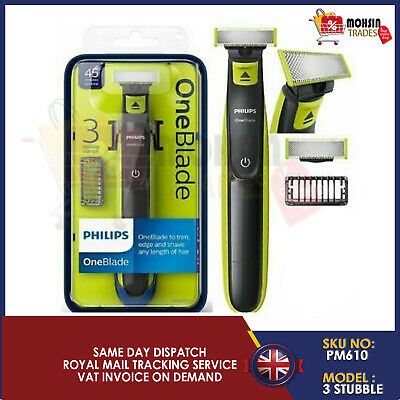 PHILIPS ONEBLADE 3 STUBBLE COMBS-1 BLADE TO TRIM EDGE AND SHAVE 2 years warranty