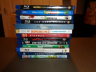 13 Blu-Ray Movie Lot! A-list DVDs Wholesale Bulk COLLECTION Bluray Disney Pixar