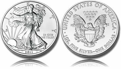 AMERICAN SILVER EAGLE 1 troy OUNCE 2011 uncirculated $1 DOLLAR .999 silver