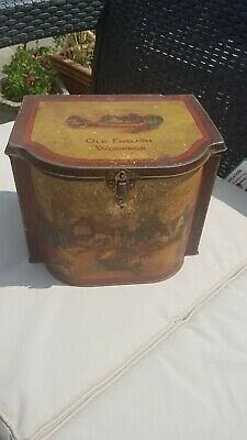 Vintage Tin Old English Workbox