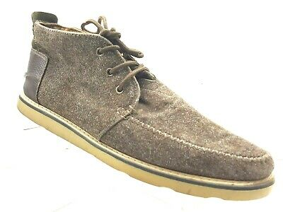 2f51babbc20f9 TOMS MENS CHUKKA Charcoal Fleck Gray Lace Up Boot Shoes Size 9 ...